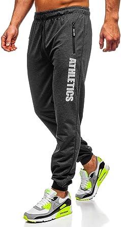 BOLF Hombre Pantalón Deportivo De Chándal Jogger Pantalón de Algodón Diseño Jaspeado Entrenamiento Fitness Jogging Estilo Urbano 6F6: Amazon.es: Ropa y accesorios