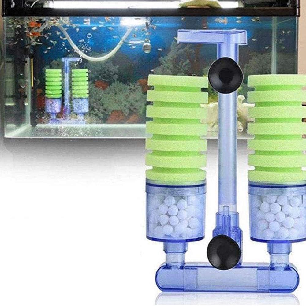 Amazon Com Pei Aquarium Equipment With Suction Pump Air Pump Double Head Biochemical Sponge Foam Filter Bucket Shrimp Proliferation Fish Tank Filter Grass Green Pet Supplies