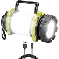 ANNA TOSANI Linterna de Cámping Recargable Antorcha Lámpara 4 Modos de Luces de Trabajo 3000mAh Power Bank Farol de…