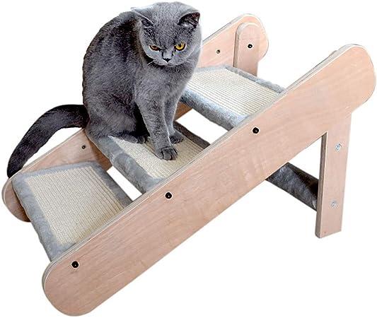 XGG Escaleras de Mascotas 2-en-1 Plegable for Perros Escaleras Pasos Rampa for Grandes/Gatos pequeños de Madera 3 Pasos Perro Subir escaleras Escalera Sofá pequeña Cama del Perro de Escalera: Amazon.es: Hogar