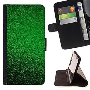 - Green Vibrant Green Wallpaper Shiny - Estilo PU billetera de cuero del soporte del tir???¡¯????n [solapa de cierre] Cubierta- For HTC One M9 £¨ Devil Case £©