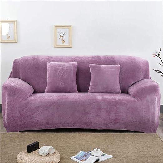 QLCUY Funda de sofá sólida Fundas elásticas para sillones ...