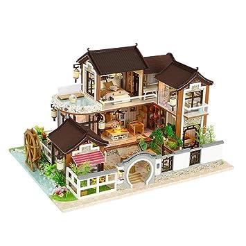 LSQR 3D DIY Madera Miniatura Dollhouse Juguetes Hechos a ...