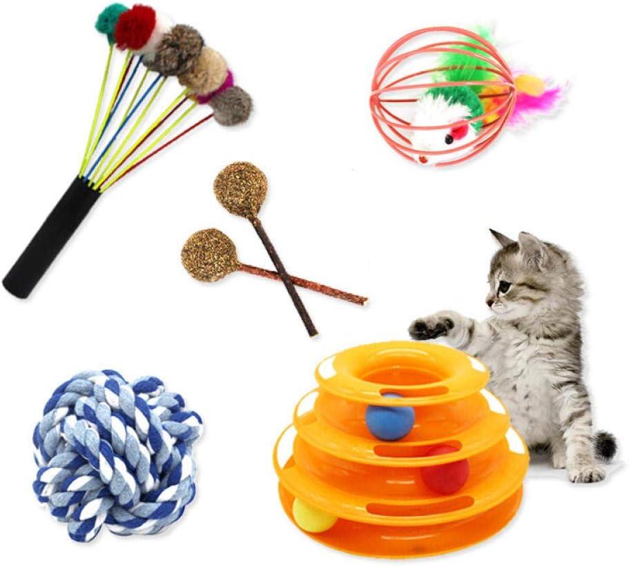 SLcco Juego de Juguetes para Gatos Rompecabezas Interactivo ...