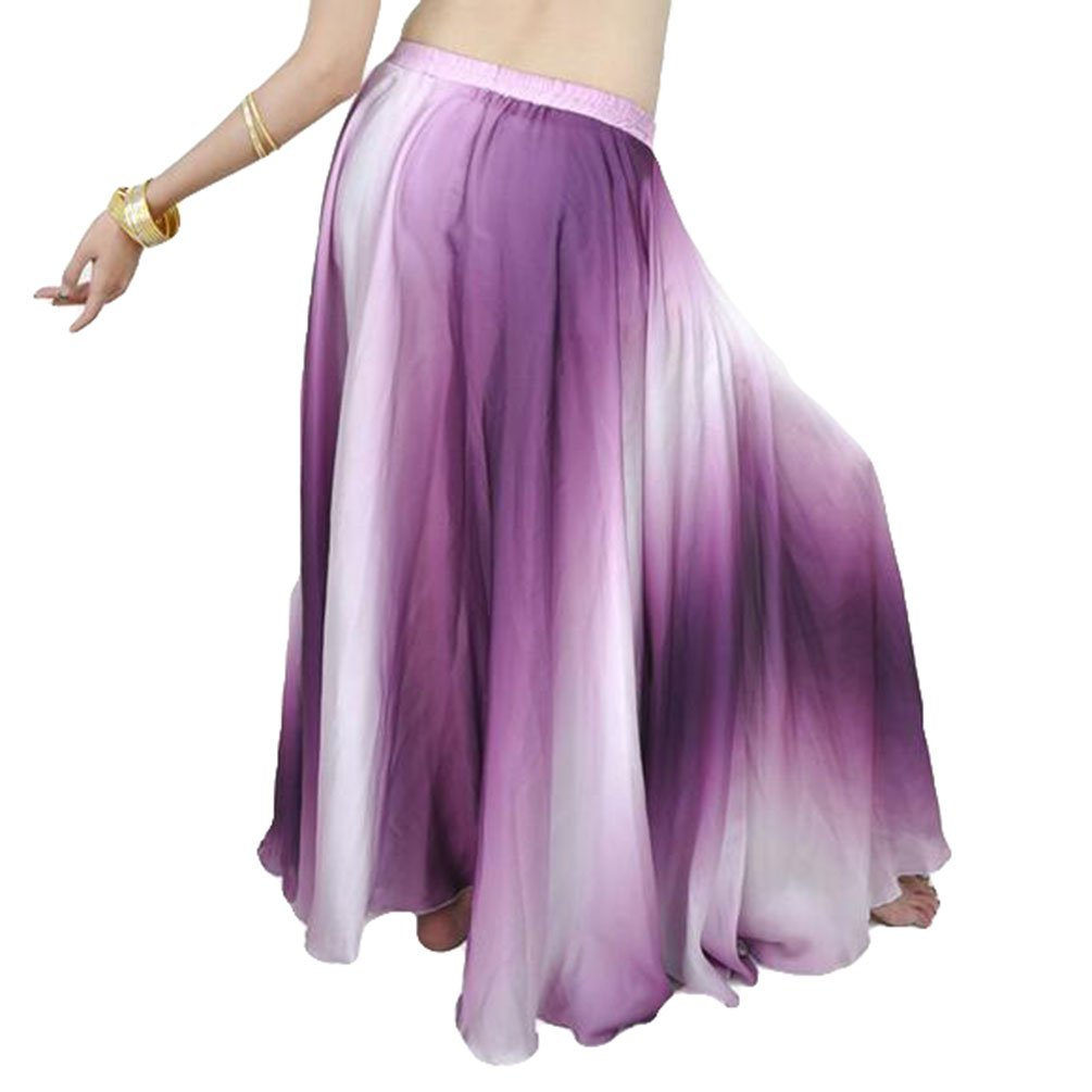 YuanDian Donne Gradiente Di Colore Danza Del Ventre Swing Gonna professionali Moderna Danza Abiti Belly Dance Costume