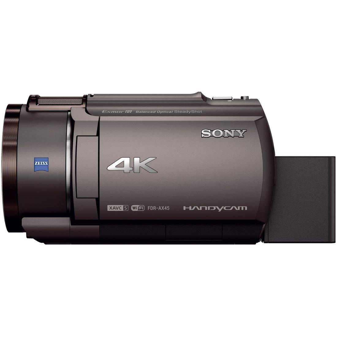 [デジタル4Kビデオカメラ] ブラック 【送料無料】 SONY FDR-AX45 B ハンディカム