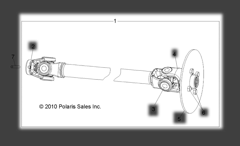 Polaris 2010-2017 Polaris Lsv 4X4 Ranger Evlev 4X4 Propshaft Front Ev 1332794 New Oem