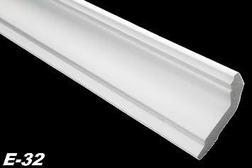 Schön 20 Meter + 4 Ecken Zierprofile Eckleisten Styropor Stuck Hart 28x51mm, E 32