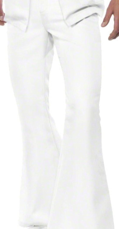 erdbeerloft - Hombre John Travolta de los años setenta, Saturday Night Fever, disfraz, M de XL, color blanco: Amazon.es: Ropa y accesorios