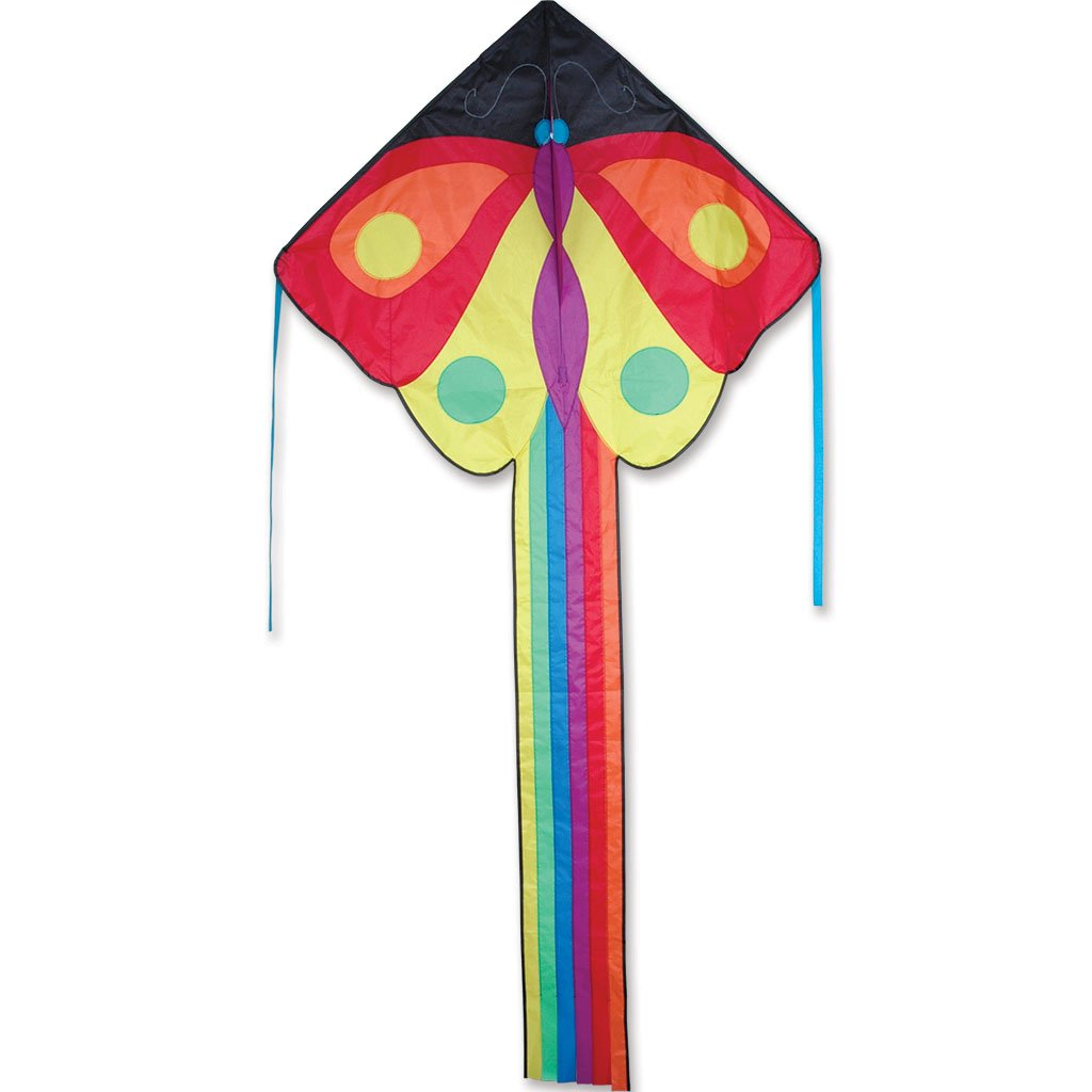 Kite - Large Easy Flyer Kite - Butterfly (47'' X 91.5'') with 300 Ft 30lb Test Kite String and Winder by Premier Kites