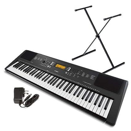 e9daeb6c1d4 Amazon.com  Yamaha PSR-EW300 SA 76-Key Portable Keyboard Bundle with Stand  and Power Supply  Musical Instruments