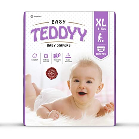 Teddyy Easy Baby Extra Large Size Diaper (30 Count) Taped Diapers at amazon