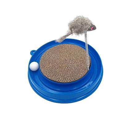 Tablero del rasguño del gato Juguetes del gato Gatos divertidos Bola de la placa giratoria del ...