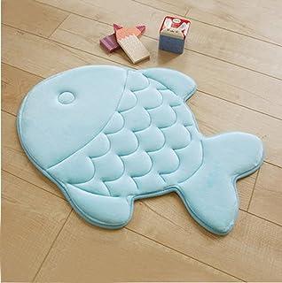 Yzakka Mildew Resistant Antibacterial Absorbent Quick Drying Bathroom Mat  Soft Coral Velvet Non Slip Memeory Foam
