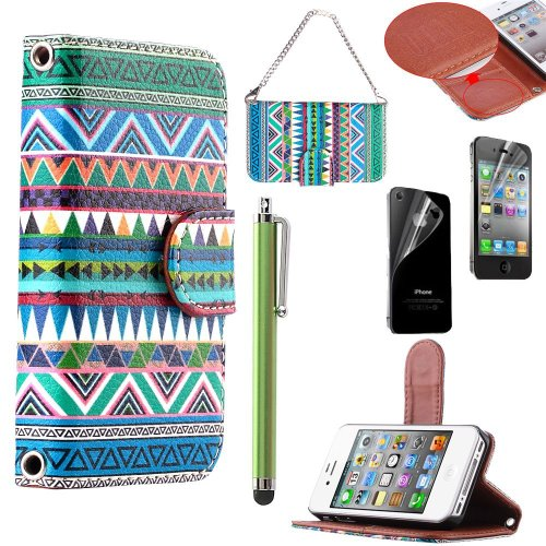 buy popular 0675f 8bba5 iPhone 4S Case, iPhone 4 Case, ULAK Fashion Tribal Wallet Case for ...