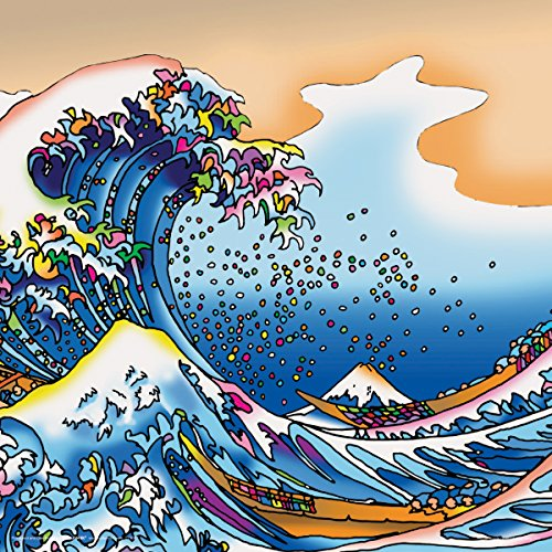 Howie Green The Great Wave Katsushika Hokusai Decorative Psychedelic Pop Modern Art Poster Print