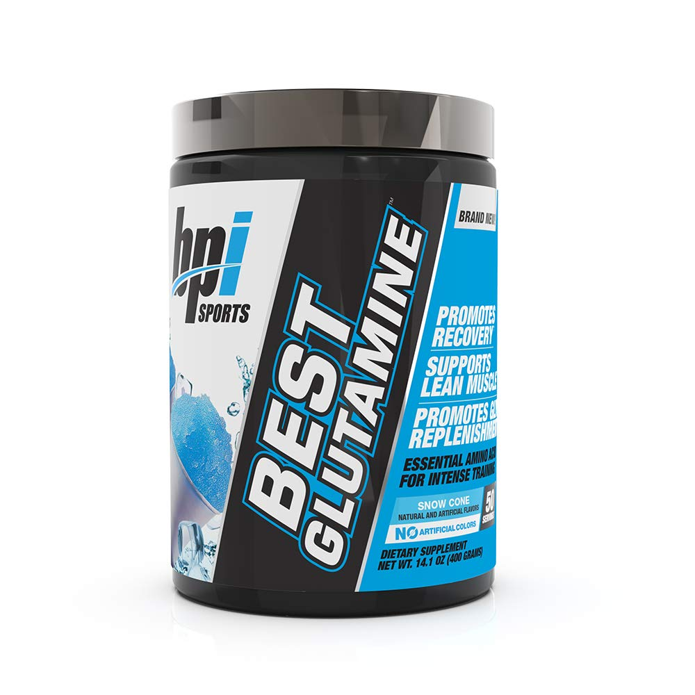 Best Glutamine Essential Amino Acid for Intense Training, Snow Cone, 14.1 Ounce by BPI Sports