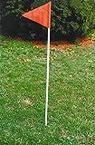 Goal Sporting Goods Economy Game Field Corner Marker w Ground Spikes - 4 Pc Set