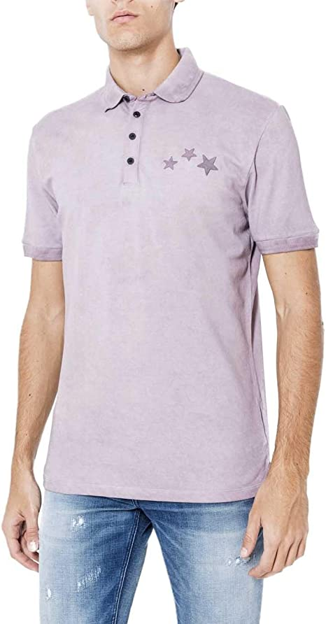 Antony Morato Polo Hombre Estrellas Rosa: Amazon.es: Ropa y accesorios