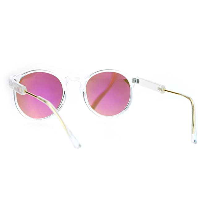 Amazon.com: SA106 Gafas de sol retro, con marco transparente ...