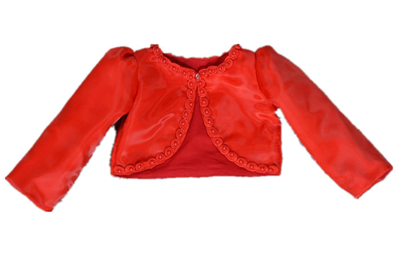 HX Baby Girl's Beaded Long Sleeve Bolero Shrug Jacket Short Cardigan Dress Outerwear