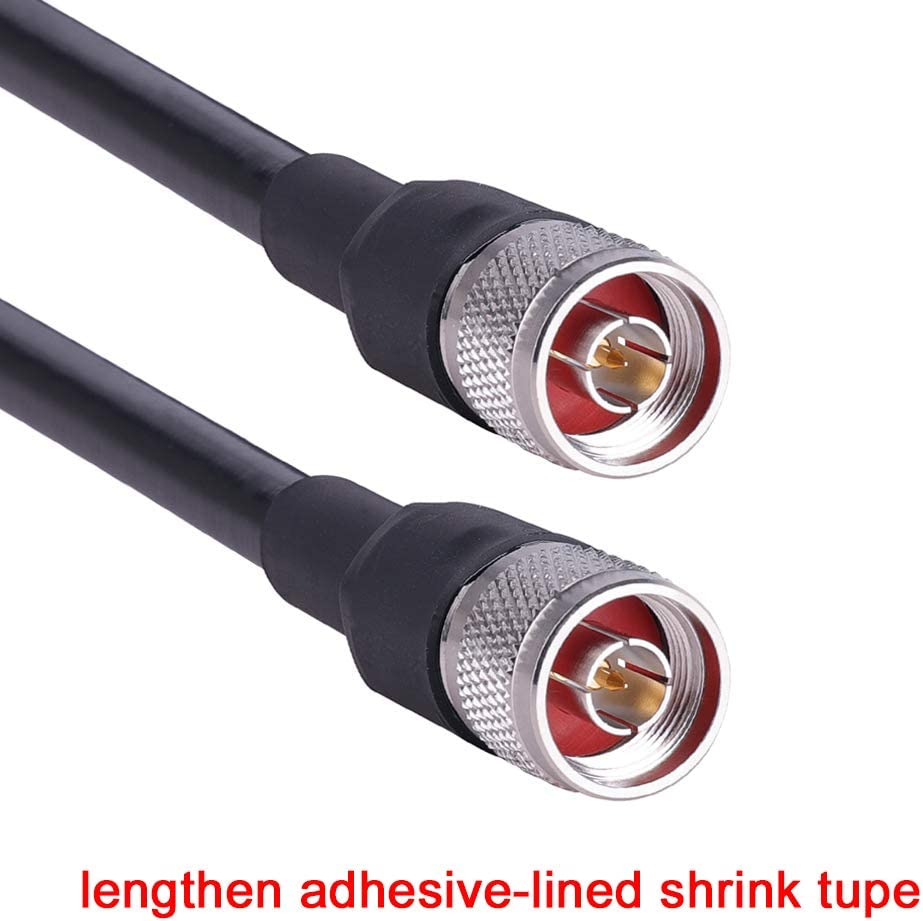 Not for TV XRDS-RF 50ft LMR240 Coax Extension Cable N Male to N Male Connector Pure Copper Low Loss Coaxial Cables for 3G//4G//5G//LTE//GPS//WiFi//RF//Ham//Radio to Antenna or Phone Signal Booster Use 50 Ohm