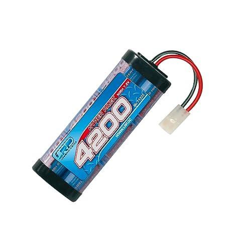 LRP Hyper Pack 4200 Hybride Nickel Metal 4200mAh 7.2V batterie rechargeable - Batteries rechargeables (4200 mAh, Hybrides nickel-métal (NiMH), 7,2 V, Bleu)