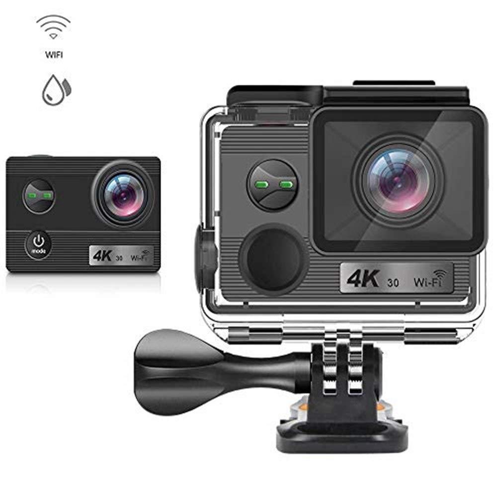 アクションカメラ スポーツカメラ、1080 P 4 K HD屋外乗馬スポーツカメラ極薄防水スポーツカメラ付きWiFiスポーツDVスキー登山ダイビングに適して カメラ   B07RSKFBLR