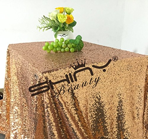 ShinyBeauty Rose Tablecloth Tablecloth 48x72Inches Rose Gold