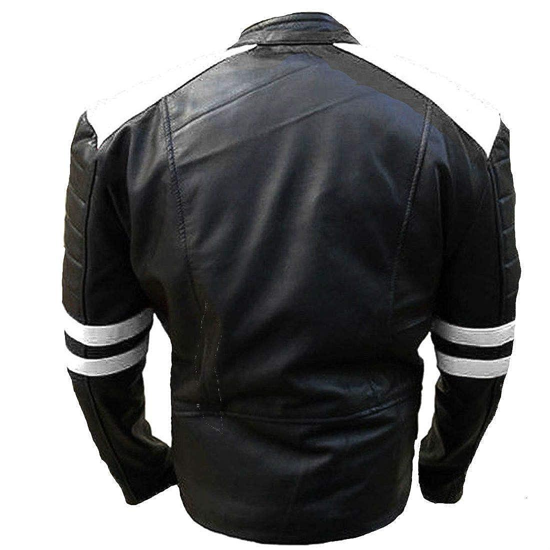 Amazon.com: Brando Classic - Chaqueta de piel para hombre ...