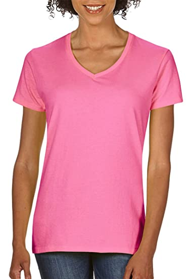 900a92851 Image Unavailable. Image not available for. Color: Gildan Heavy Cotton  Ladies' V-Neck T-Shirt ...