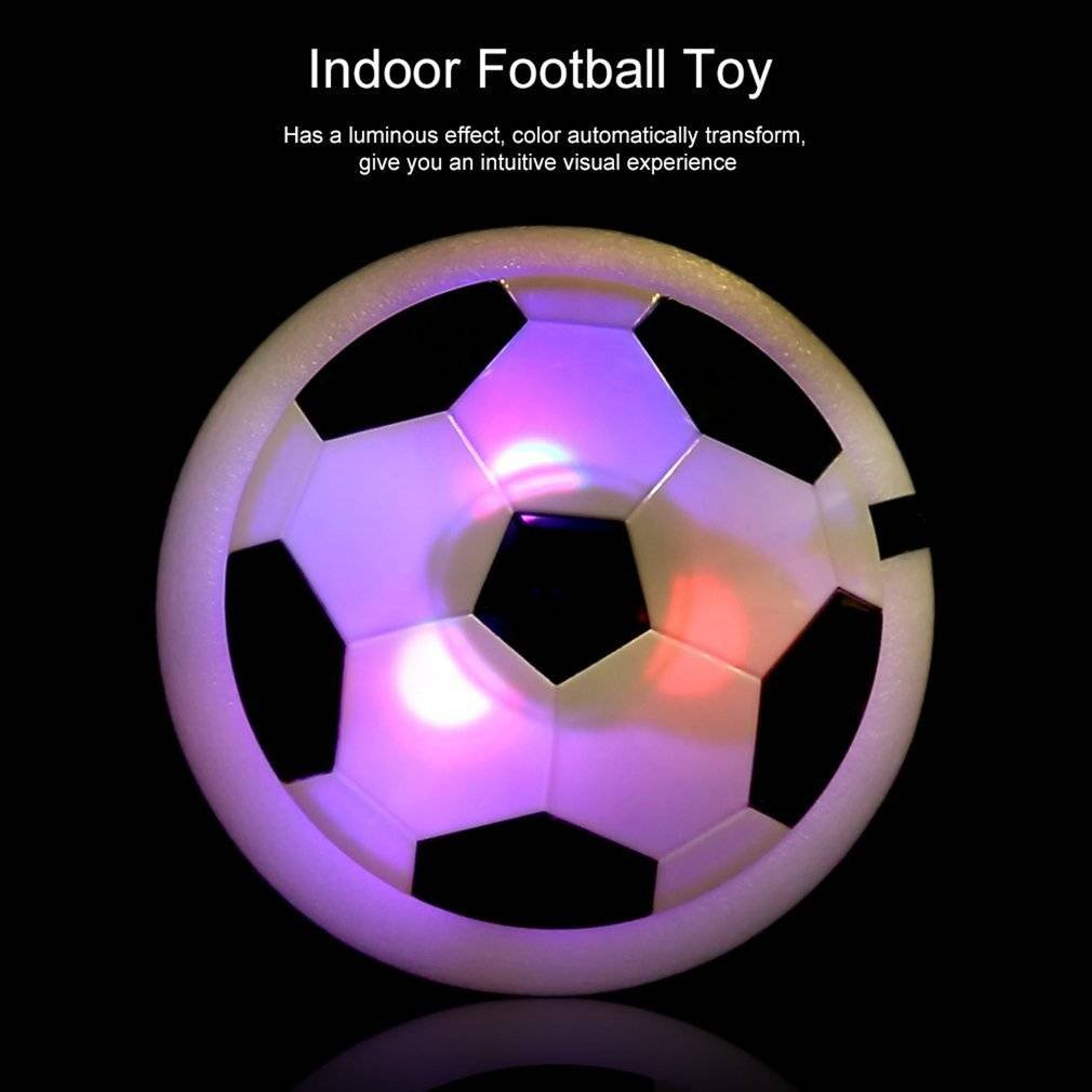 BingbingエアパワーサッカーディスクIndoor Football Toy Multi Surface Hovering Gliding toy-disk Football The Amazing Hover Ball with強力なLEDライトサイズfor Boys Girls Sport B07D8FCNMD