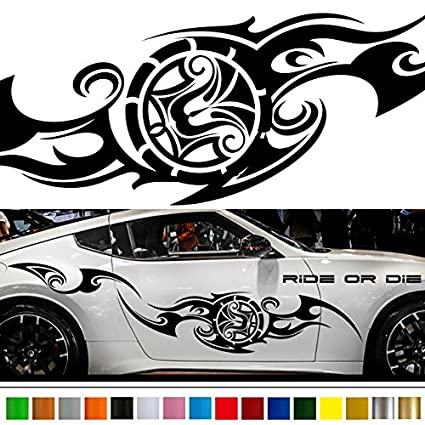 Tribal car sticker car vinyl side graphics wa33 car vinylgraphic car custom stickers decals 【8