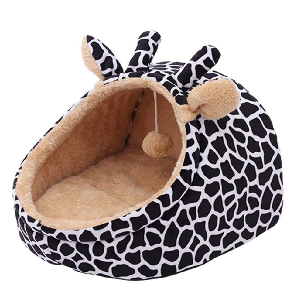 Giraffe (nero) MediumYANGYOUNGLI Pet Bed Dog Beds Sleeping Bag Letts Pet House Cartoon  ful Fashion Semined Creative Four Seasons Universal