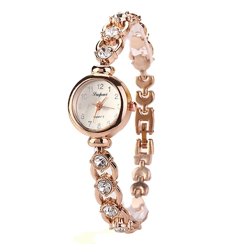 KANGMOON Ladies Bracelet Watches Sale Clearance Womens Analog Quartz Wrist Watch, for Party Club Casual Stainless Steel (Gold)