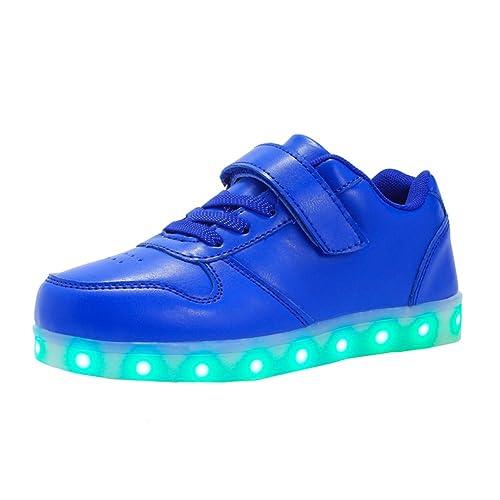 the latest 9b990 66324 Voovix Kinder Schuhe mit Licht LED Leuchtende Blinkende Low-Top Sneaker USB  Aufladen Shoes für Mädchen und Jungen