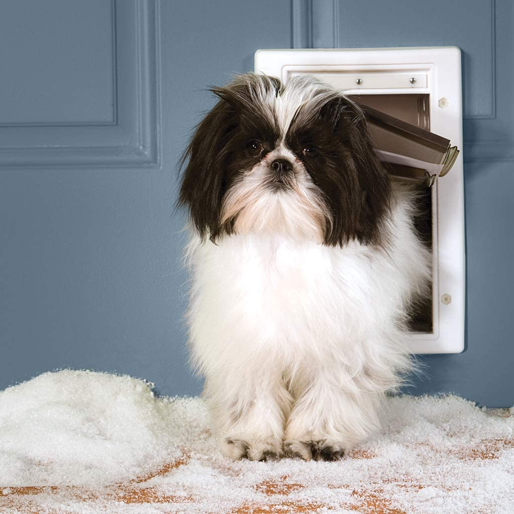 Unique 3 Flap System PetSafe Extreme Weather Energy Efficient Pet Door for Small Dogs and Cats under 15 lb. White