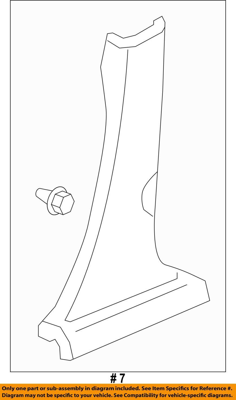 Genuine Honda 84171-T0A-A01ZA Center Pillar Garnish Assembly