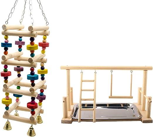 CUTICATE Escalera Colgante De Escalada De Loro De 2 Piezas: Amazon.es: Productos para mascotas
