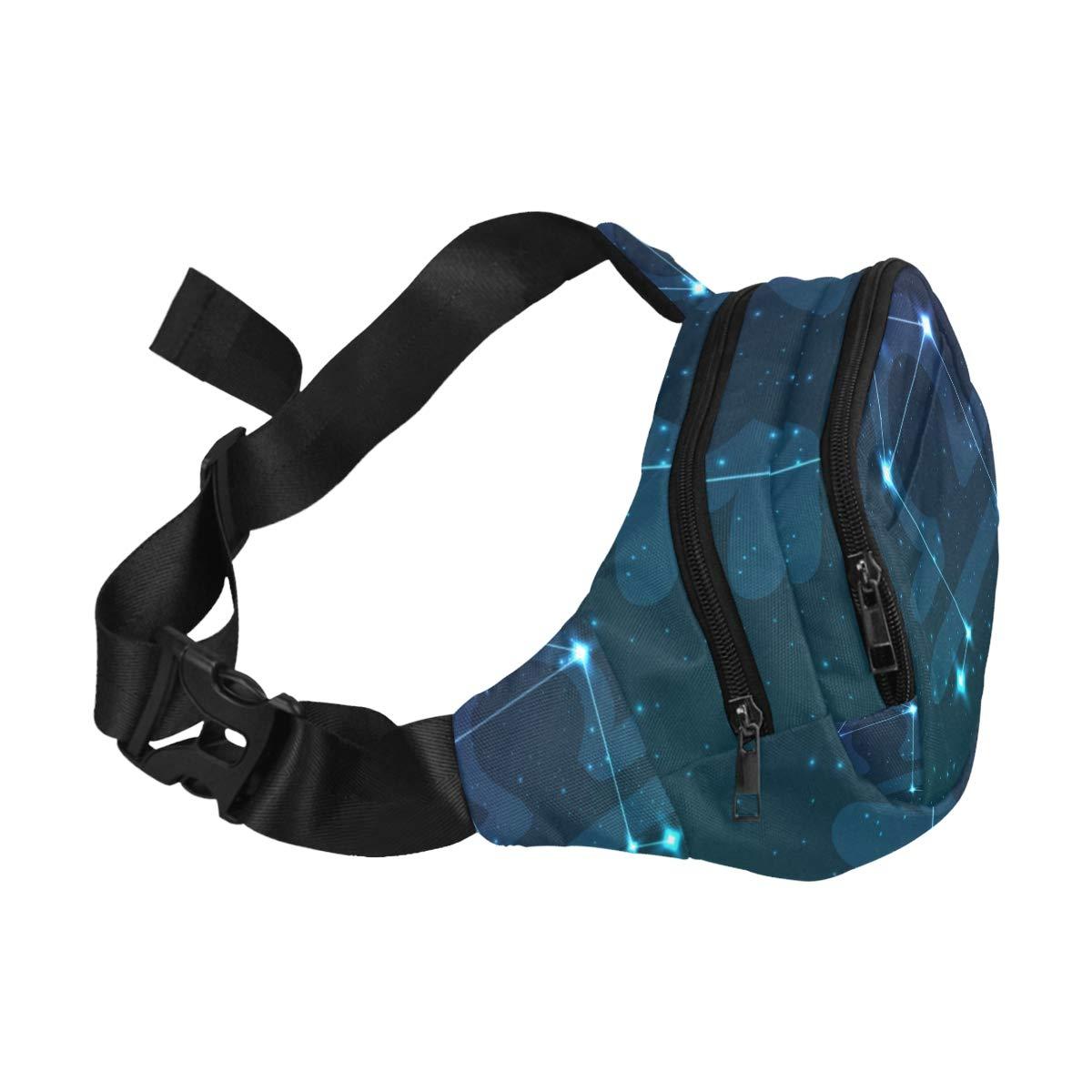 Constellation Zodiac Sign Libra Fenny Packs Waist Bags Adjustable Belt Waterproof Nylon Travel Running Sport Vacation Party For Men Women Boys Girls Kids