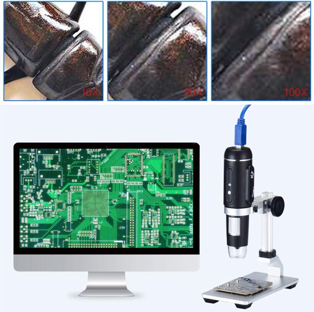 Fendyti 1000X USB3.0 Digital Microscope 5MP HD Camera Electronic Magnifier with Holder