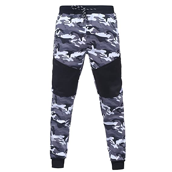 Tanhangguan Mens Camouflage Gym Contrast Jogging Full Tracksuit Slim Fit Long Sleeve Zip-up Hoodie Fleece Joggers Set at Amazon Mens Clothing store: