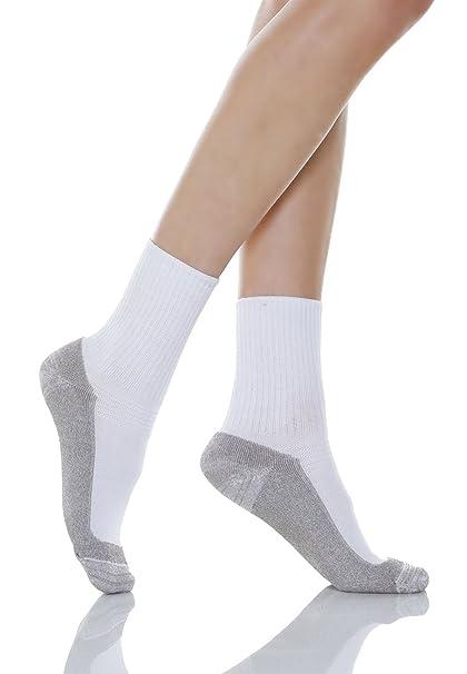 Relaxsan 550P Calcetines masajeadores para los diabéticos fibra de plata X-Static y plantilla de algodón: Amazon.es: Ropa y accesorios