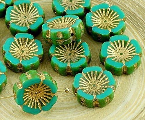 More Colours Available 10pcs Czech Glass Hawaiian Flower Beads