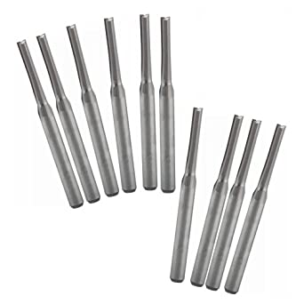 "10x Carbide CNC 4 Flute Spiral Bit End Mill Cutter 1//8/"" Shank 15mm Blade Milling"