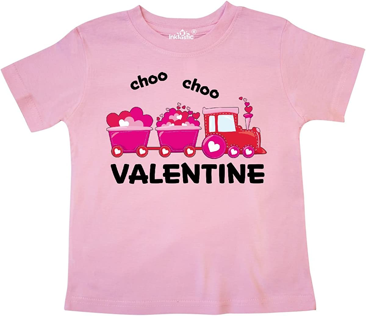 inktastic Valentine Choo Choo Train Outfit Toddler T-Shirt