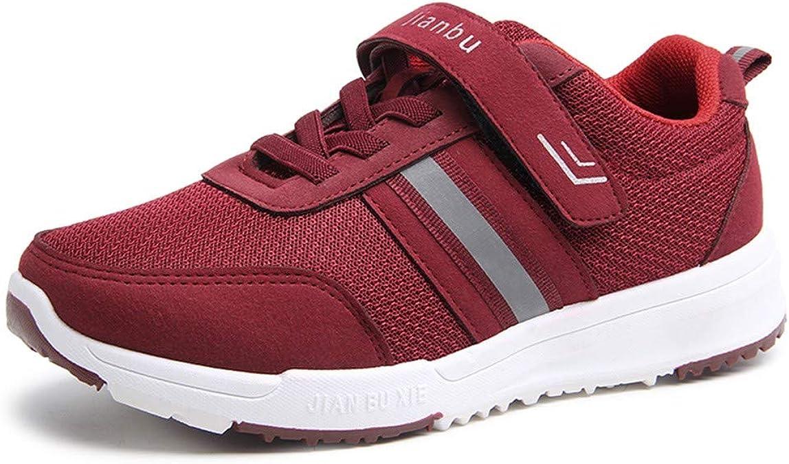 Zeppa - Zapatillas de running para mujer, con velcro y suela de velcro suave, color rojo, para verano, fitness, running, casual, alpinismo, transpirables: Amazon.es: Zapatos y complementos