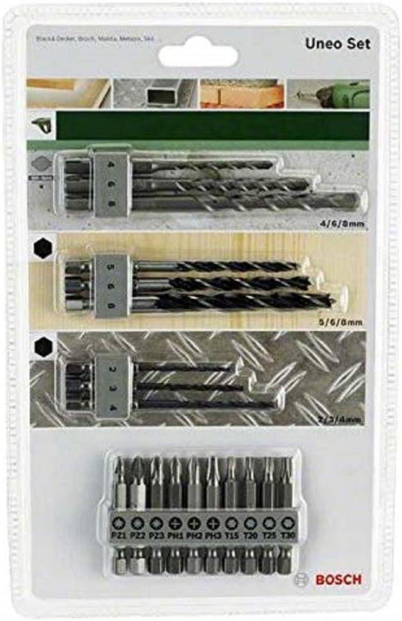 Bosch 2 609 256 989 Juego variado Uneo pack de 19