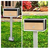 SereneLife Indoor/Outdoor Wall Mount Locking Mailbox, Includes Keys (Flat/Horizontal Style)