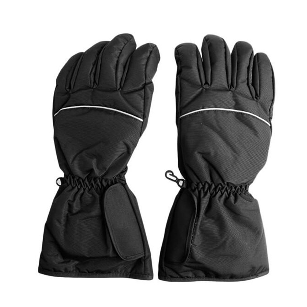 BRLIGE Adult Black Heated Gloves Battery Operated Thermal Snow Warm Winter Fishing Skiing Motorcycle Biking